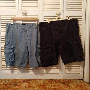 Bundle Lot 2 Lee Cargo Shorts Mens 40